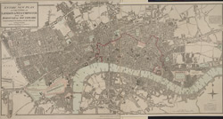 An entire new plan of the cities of London & Westminster; with the borough of Southwark comprehending the new buildings and other alterations, to the present time